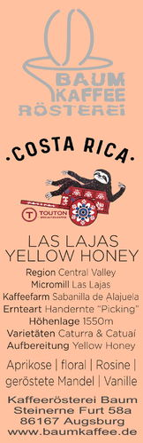 Costa Rica Las Lajas Yellow Honey