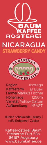 Nicaragua Strawberry Candy anaerobic yeast